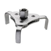 Jetech 3-jaw oil filter wrench removing motorcycles car trucks and heavy duty oil filters fits diameter 63 to 102mm 1/2
