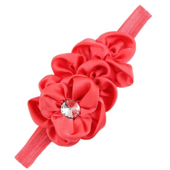 JEYL New Bandeau des Fleurs pour Bebes Filles Mousseline de Soie Beaute(pasteque rouge)