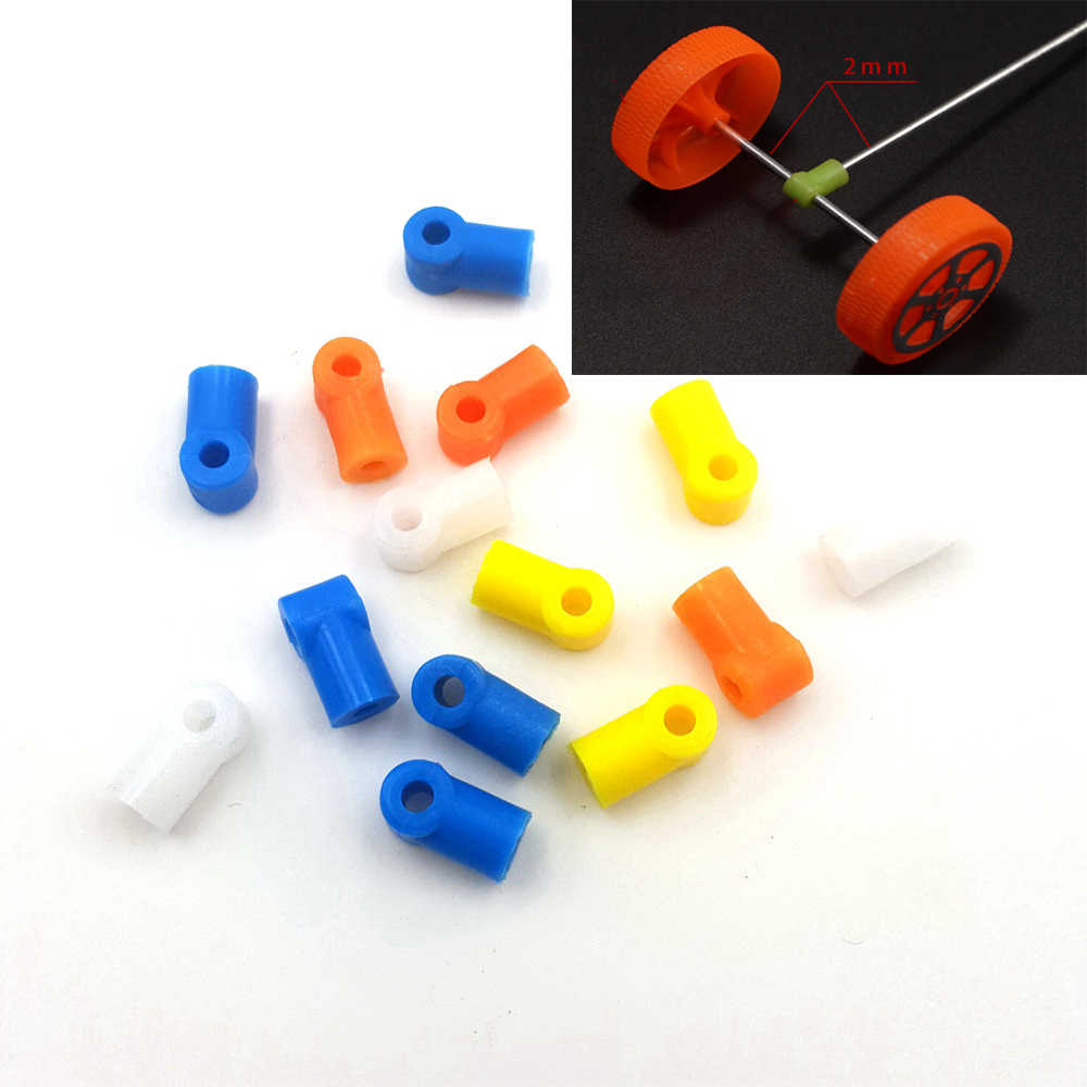 20PC/LOT Multicolor Axle sleeve Tee coupling Axle connection 2MM Shaft Connect for DIY Model toys