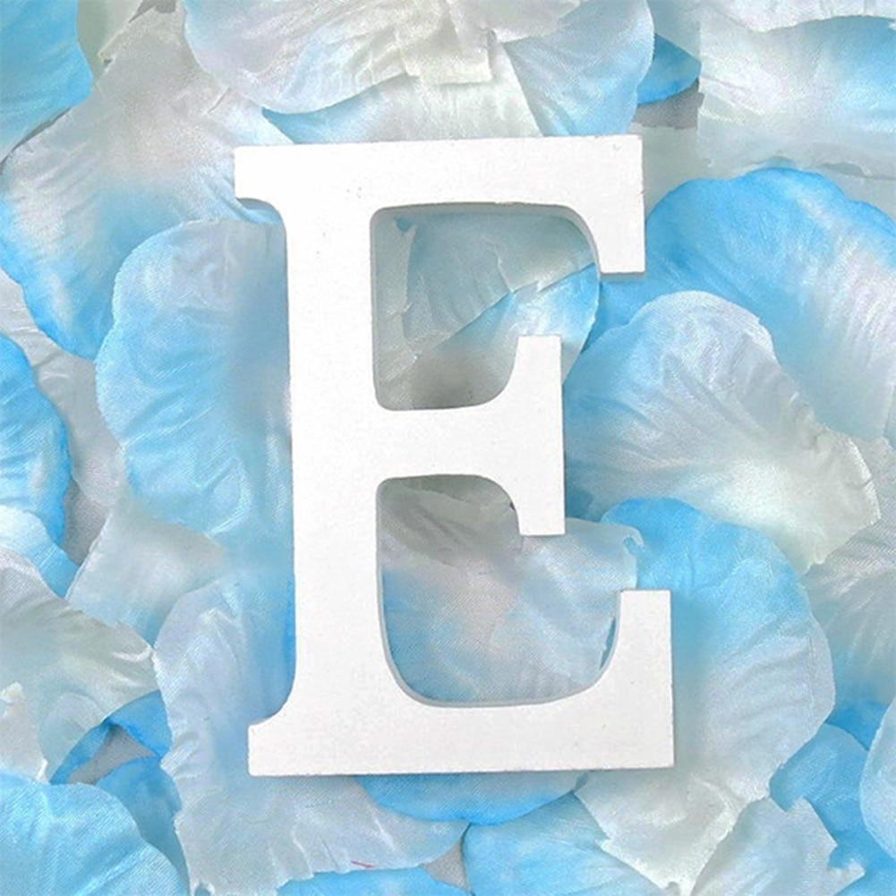3D деревянные буквы letras decorativas персонализированное Имя Дизайн Искусство ремесло деревянные украшения letras de madera houten буквы - Цвет: E