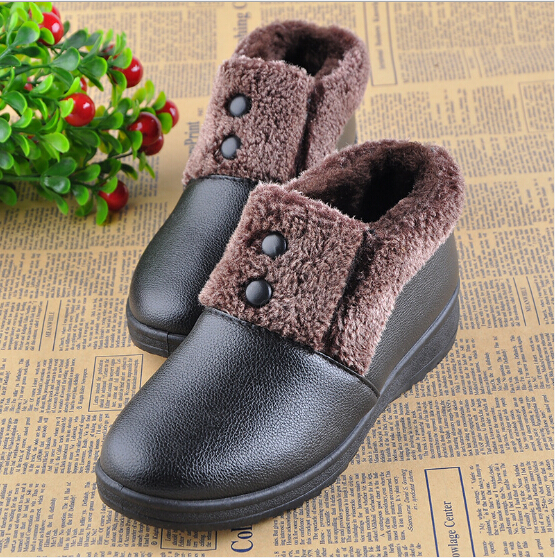 Women Winter Shoes black waterproof 2016 female ankle snow boots lady's cotton-padded casual outdoor warm shoes - All-New Market store