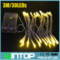 AISTARRY 3M/30LEDs LED String Light Christmas Lights 9Colors Battery Power Operated for Holiday Party Wedding Garden Decoration
