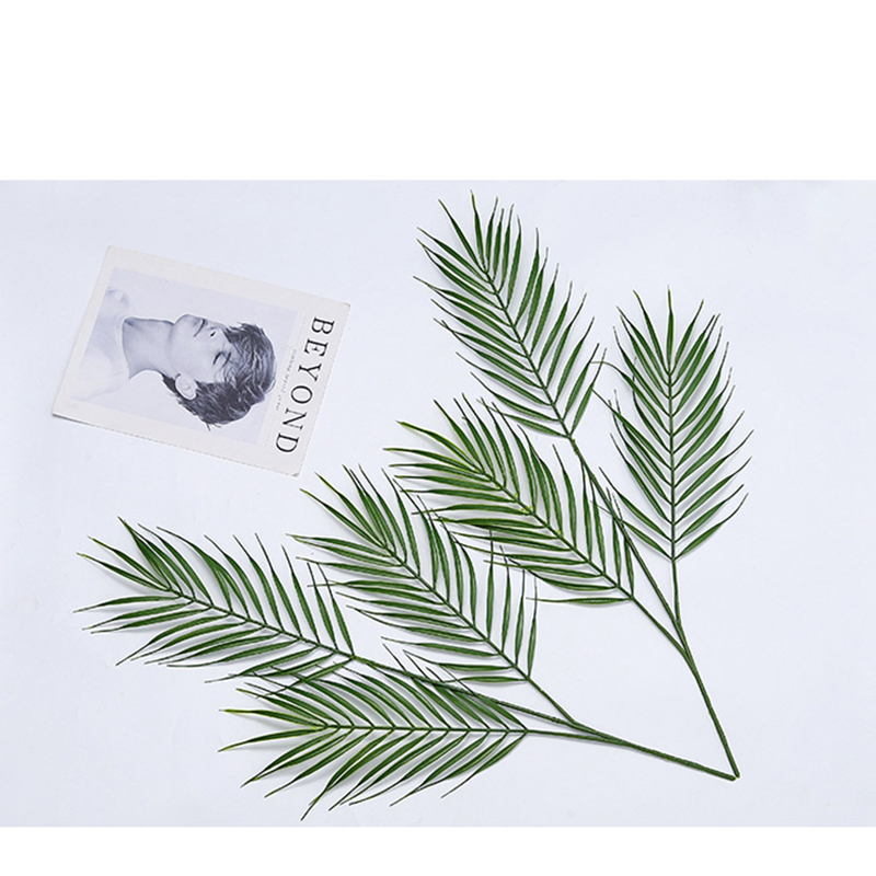 Artificial Monstera Plants Plastic Tropical Palm Tree 3Leaves Garden Weeding Mariage table Decoration Accessories Home Decor(China)