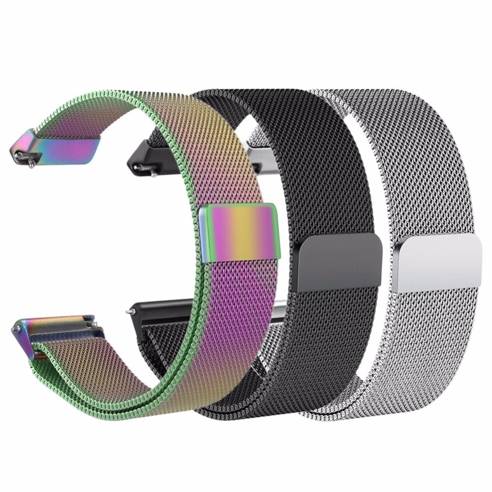 Replace Magnetic Suction Kickbacks Watch Strap For Fitbit Versa Fitness Smart Watch Replacement Milanese Loop Strap Wrist Band
