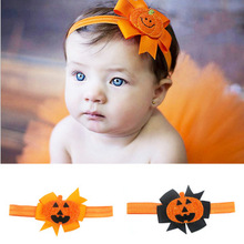 Baby Headband Ribbon Handmade Toddler Infant Kids Hair Accessories Girl Newborn Bows pumpkin bandage Turban tiara Hair Band baby headband ribbon flower handmade diy toddler kid hair accessories floral girl newborn bows photography turban elastic infant
