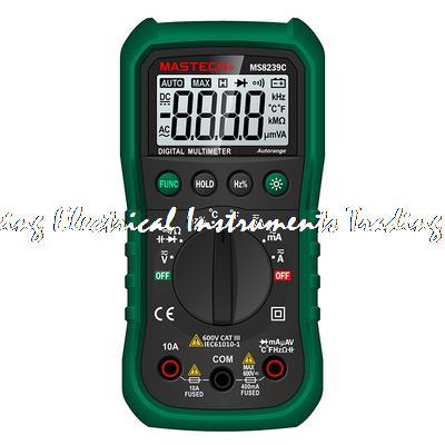 MASTECH BRAND MS8239C Handheld Auto range Digital Multimeter AC DC Voltage Current Capacitance Frequency Temperature Tester мультиметр mastech ms8239c