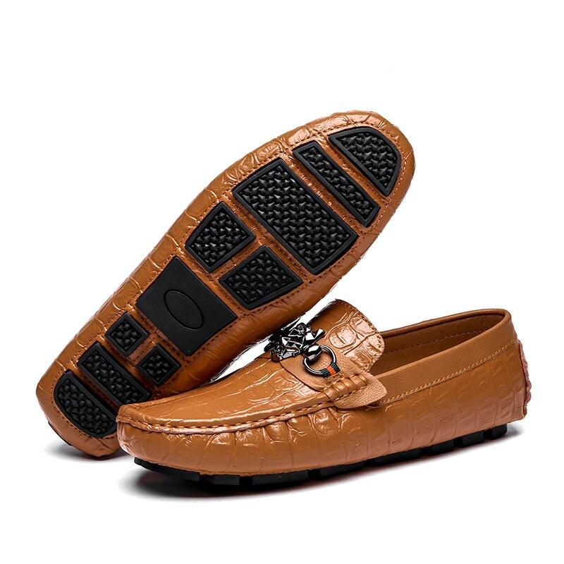 Qualité Masculino Noir bleu Hommes orange Hombre Cuir Mocassini Casual Tenis En Chaussures Zapatos Mocassins Uomo Heinrich Mens Haute De YT1ywa7axq