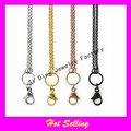Nova 24 polegadas rolo cadeia cadeias medalhão flutuante mix 4 pcs aço inoxidável cadeia medalhão de vidro ( 1 = 1 pcs )