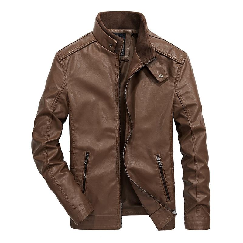 2019 Newest Spring Fashion Men PU Coat Outerwear Biker Motorcycle Male Jackets Drop Shipping ABZ173