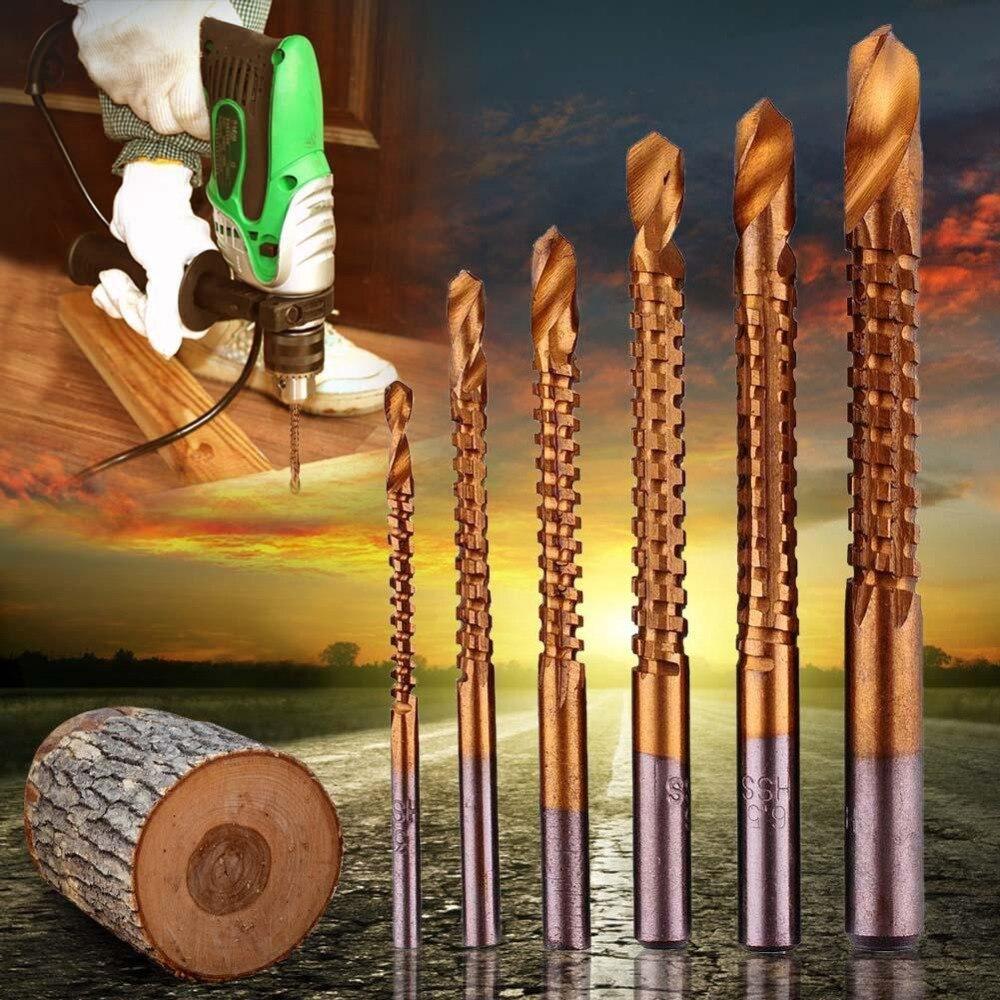 6pcs Professional Titanium Coated HSS Drill Bit Electric Drill ...