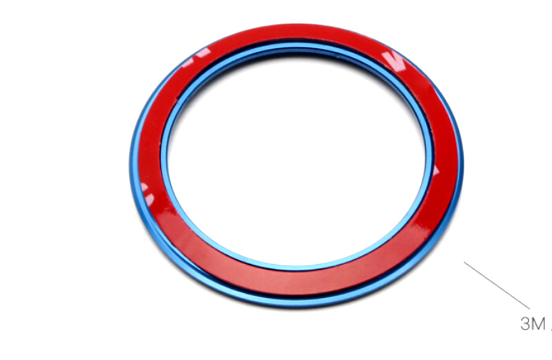 2014 2015 2016 2017 For BMW X5 F15 Interior Accessories Steering Wheel Central Mark Cover Ring Decor Blue