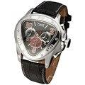 Мода Роскошные Мужские Автоматические Механические Наручные Часы Лучший Бренд ПОБЕДИТЕЛЬ Треугольник мужские Часы 3 суб-набор 6 Руки reloj hombre