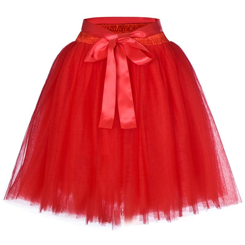 6be7ca2d9e Women's High Waist Princess Tulle Skirt Adult Dance Petticoat A-line Wedding  Party Tutu 7 Layers Midi Lolita Faldas Saia | Herbert Edwin