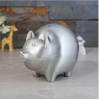 cartoon pig metal pig piggy bank coin capsules money jar for money atm piggy bank kids money box PB054