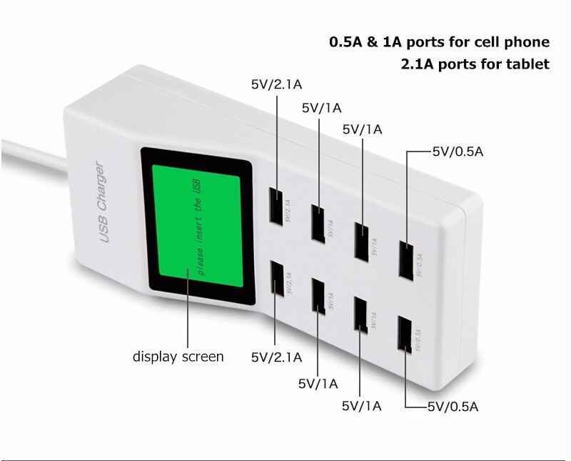 US-EU-UK-Multi-8-Usb-Ports-Charger-with-Lcd-Screen-Dc-Voltmeter-Smart-Wall-Charger-for-Yotaphone-2-Doogee-X5-S6-18650-Cell-Phone (15)