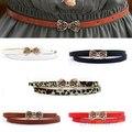 Bluelans mujeres de la Manera de Señora PU de Cuero Delgado Estrecho Bowknot Correa de Cintura de La Pretina