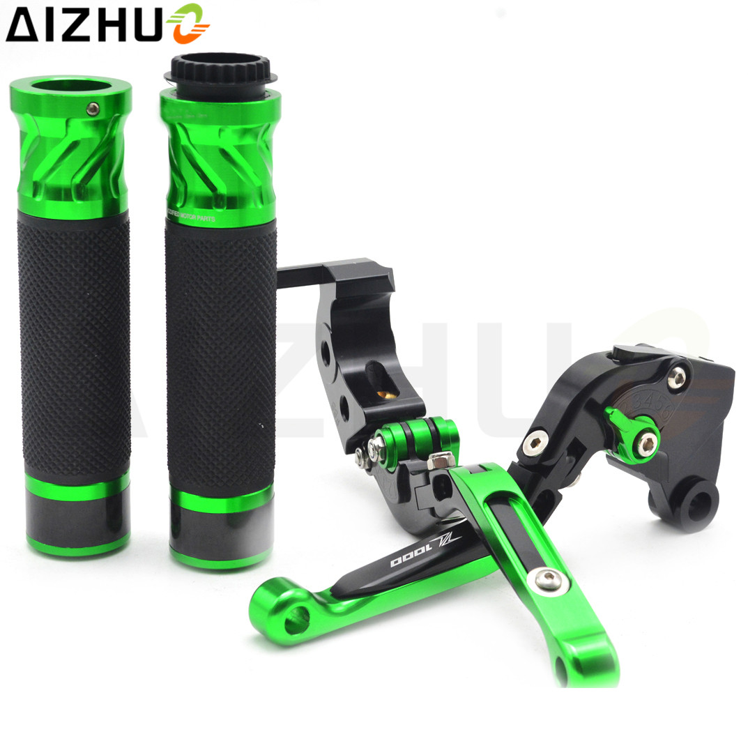 Motorcycle Clutch Brake Lever Handlebar Grips CNC Aluminum With Z1000 LOGO For Kawasaki Z1000 Z 1000 2003 2004 2005 2006