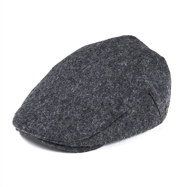 e646c221d3c VOBOOM Black Woollen Tweed Flat Cap Men s Fall Winter Warm Newsboy Caps  Gray Cabbie Driver Ivy Hat 187