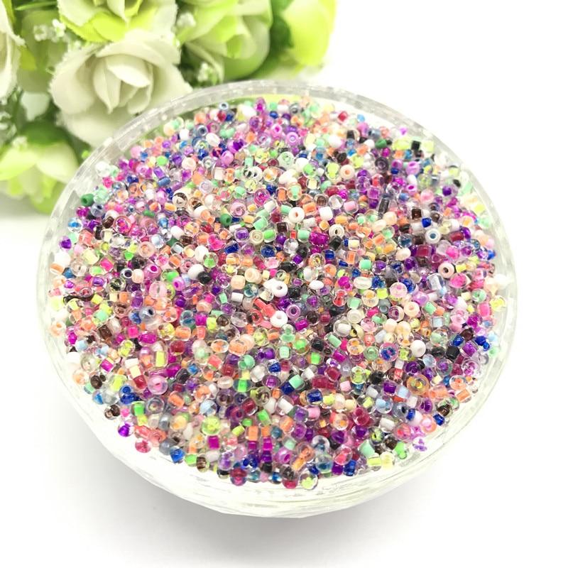 1000 шт 2 мм очаровательный чешский стеклянный бисер DIY браслет ожерелье для изготовления ювелирных изделий Аксессуары - Цвет: 60