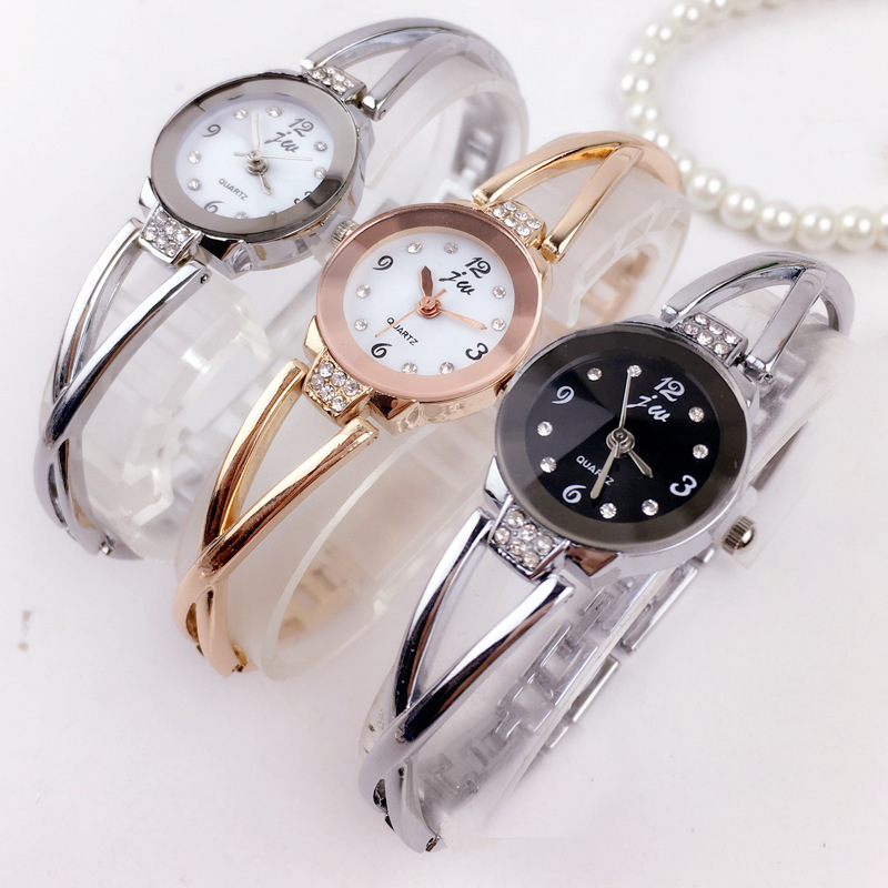 Relogio Feminino New Hot Luxury Brand Watch Women Fashion Bracelet Watches Rhinestone Dress Stainless Steel Quartz Wristwatches 2017 new hot kimio women s brand watches stainless steel fashion quartz bracelet wristwatches women lady dress watch clocks