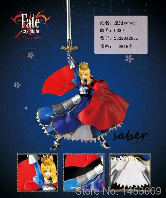 Fate Stay Night Crown Saber Lily 1/8 Scale PVC Figure Collectible Model Toy 18cm KT1614 fate stay night unlimited blade works king of knights saber 1 7 scale pre painted figure collectible toy 25cm