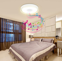 2016 New RGB Dimmable 36W LED Ceiling Light With Bluetooth Music 90 260V Modern Led Ceiling