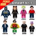 8 unids PG8009 Super Heroes figuras Batman Joker Catwoman Bruce Dick Grayson Robin Alfred Pingüino Juguetes