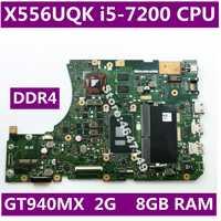 X556UQK i5-7200CPU GT940MX 2G 8GB RAM Mainboard REV 3.1 For ASUS X556UV X556U X556UQK K556UQ X556UQ laptop motherboard Test OK