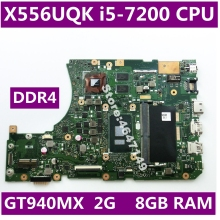 X556UQK i5-7200CPU GT940MX 2G 8GB RAM Mainboard REV 3.1 For ASUS X556UV X556U X556UQK K556UQ X556UQ laptop motherboard Test OK