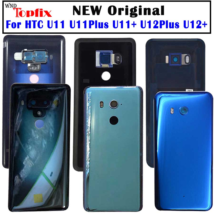 Housing-Case Battery-Cover Htc U11 Original Camera-Lens Glass Door for Plus Rear