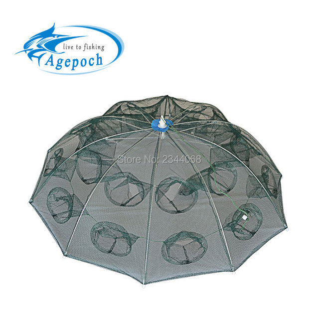 Agepoch Automatic Cheap Fishing Net Shrimp Cage Nylon Foldable Crab Mesh Fish Trap Cast Net Cast Folding Fishing Network Fish