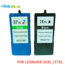 2 PK36xl 18C2170 37xl 18C2180 Ink Cartridge for Lexmark X3650 X4650 X5650 X6650