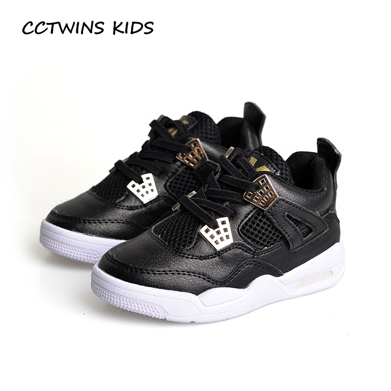 CCTWINS KIDS 2017 Toddler Boy Fashion Sport Causal Shoe Baby Girl Kid Breathable Sneaker Children Pu Leather White Trainer F1856 baby girl boy bling first walkers toddler soft sole sports shoes breathable children s anti slip shoe light cool summer new in