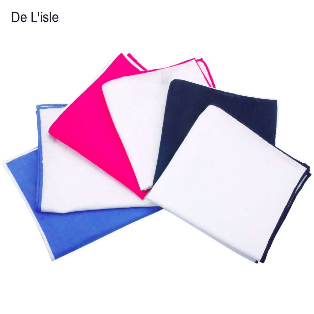 Høykvalitets 100% linlomme lommetørklær mote lomme firkantet Hanky - Klær tilbehør