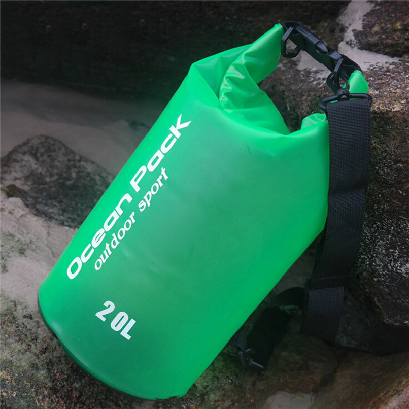 20L PVC Waterproof Dry Bag Outdoor Sport Swimming Rafting Kayaking Sailing Bag Outdoor waterproof bag #2f19 (10)