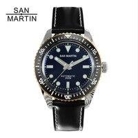 San Martin Men Damascus Diving Watch Swiss Automatic Movement Watch 200 Water Resistant Bronze Ring Retro Wristwatch Sixty Five