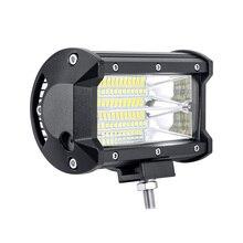 led bar Isincer автомобиля sytling работа светлая полоса 12 В работы лампы 72 Вт 6000 К с CREE светодиодный чип 5 дюймов автомобиля светодиодный лампы для мотоциклов фар