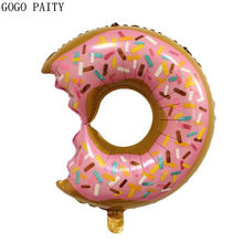 GOGO PAITY   New donut shape aluminum film balloon baby birthday party decoration balloon self-sealing