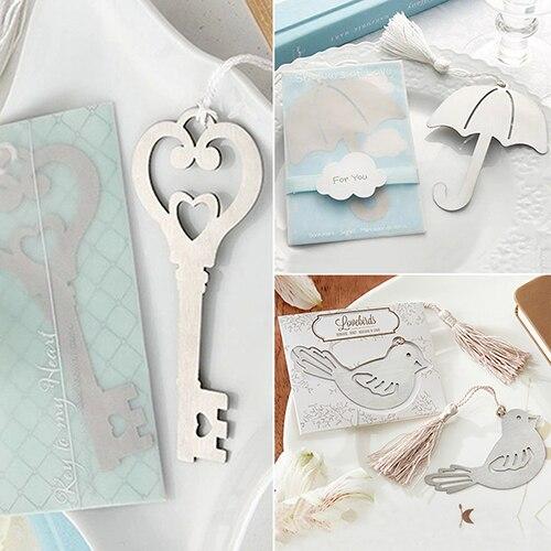 2015 Creative Ring Umbrella Key Bird Metal Bookmark Festival Wedding Party Xmas Gift Newest Arrival 8CPL