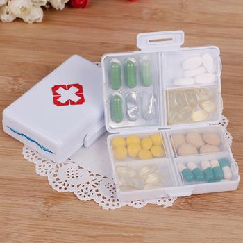 1 sztuk Drug przechowywanie tabletu walizka podróżna uchwyt plastikowy 7 dni składany mini pudełko na pigułki pojemnik tanie i dobre opinie YOVIP Przypadki i rozgałęźniki pigułka Pill Box