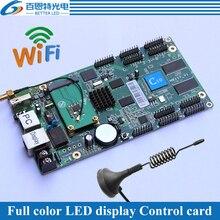 10 * HUB75E サポート 1/32 スキャン、 wifi USB + 2 イーサネットポート (受信カード接続することができ) 非同期フルカラー LED 表示制御カード