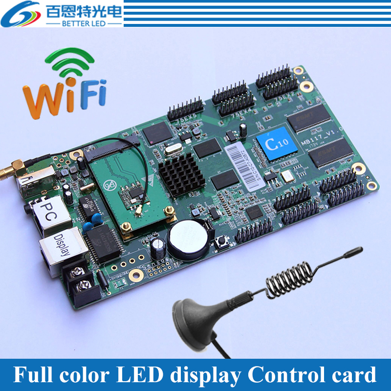 10*HUB75E support 1/32Scan,Wifi USB+2 Ethernet Port(Can connect Receiving card) Asynchronous Full Color LED Display Control Card10*HUB75E support 1/32Scan,Wifi USB+2 Ethernet Port(Can connect Receiving card) Asynchronous Full Color LED Display Control Card