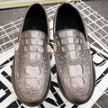 AD Acolorday Designer Moccasins Men Shoes Luxury Brand Breathable Driving Men Casual Shoes Silver Slip on Alligator Men Loafers