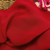 Chiffon Fabric Is A Large Red Chiffon Gown With A Costume Of The Fashion Stage