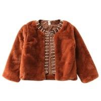 Cute Baby Girls Coat Autumn Winter Outerwear Tops Kids Jacket Children Baby Girls Plush Coats Hot Sale