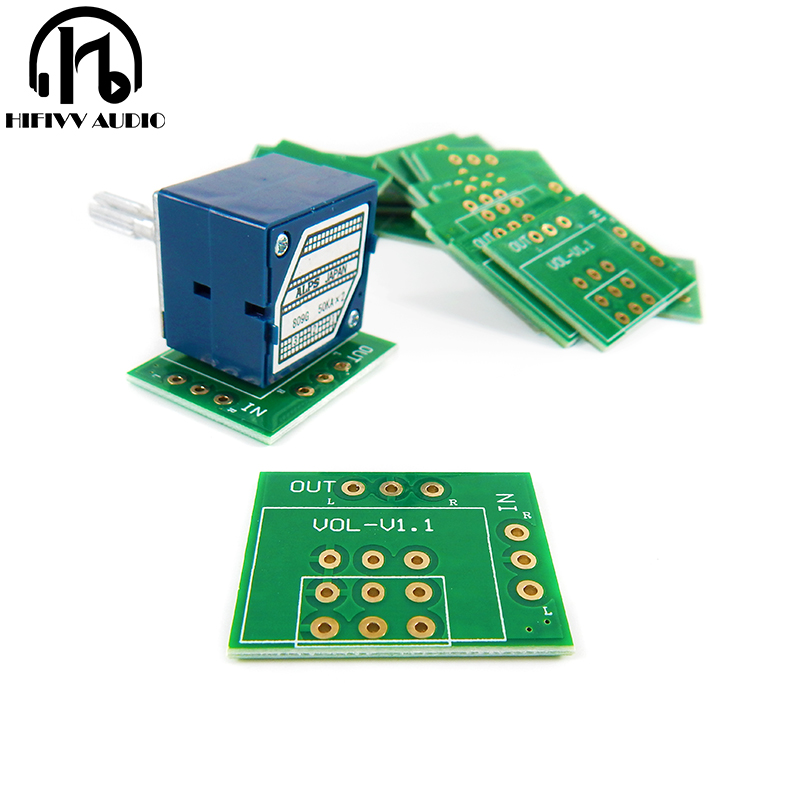 hifi Potentiometer Variable resistor Gold-plated PCB board for ALPS 27 and 16 Type 100K 50K 10K a lot of 10PCS