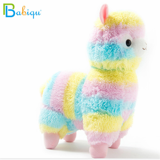 1pc 20cm Rainbow Alpaca Vicugna Pacos Plush Toys for Children Japanese Soft Plush Alpacasso Baby Stuffed Animals Alpaca Gifts 2