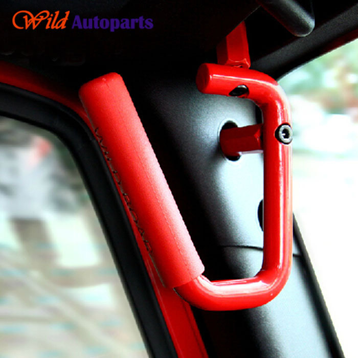 Red Wild Boar Grabars Roof Hard Mount Grab Handles For