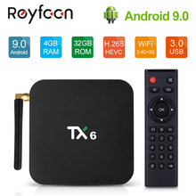 Android 9,0 ТВ коробка TX6 4 Гб Оперативная память 64 GB 5,8G Wifi Allwinner H6 4 ядра USD3.0 BT4.2 4 K проигрыватель google Youtube Tanix Декодер каналов кабельного телевидения TX6
