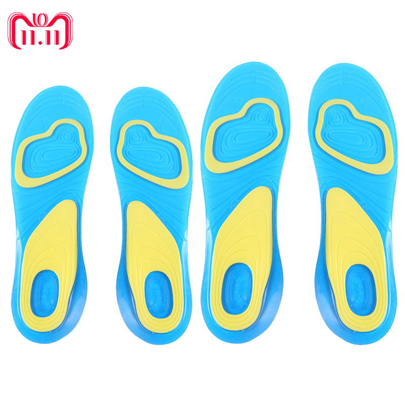 купить 1 Pair Silicone Anti-Slip Gel Soft Sport Insole Cushion Pad Orthotic Arch Support Massaging Shoes Pads Foot Care for Man Women по цене 356.99 рублей